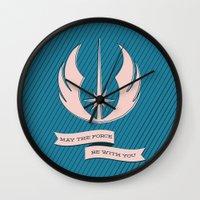 jedi Wall Clocks featuring Jedi Blueprints by Travis English
