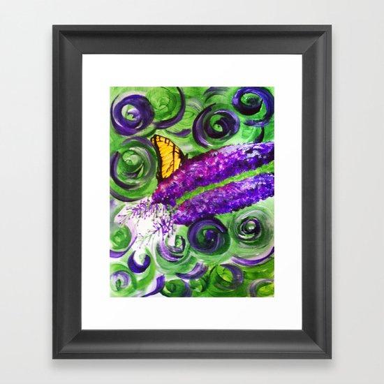 Butterfly Bush Framed Art Print