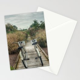 let's just ride bikes together Stationery Cards