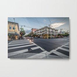 city street crossing Metal Print