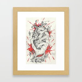 Holding The Heart Framed Art Print