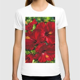 Red Hibiscus 18 T-shirt