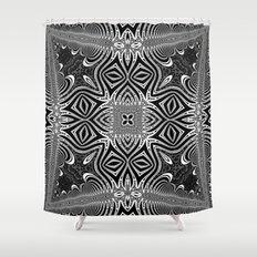 Black & White Tribal Symmetry Shower Curtain