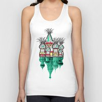 architecture Tank Tops featuring Pineapple architecture  by AmDuf