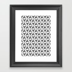 Abstract 3d grainy Framed Art Print