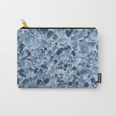 Pebbles Pattern in Blues Carry-All Pouch