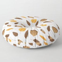 Autumn brown orange acorn fall leaves Floor Pillow