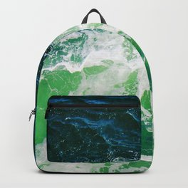 Green Ocean Waves Backpack
