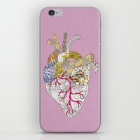 ellie goulding iPhone & iPod Skins featuring my heart is real by Bianca Green