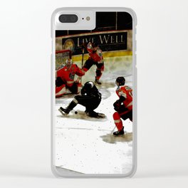 The End Zone - Ice Hockey Game Clear iPhone Case