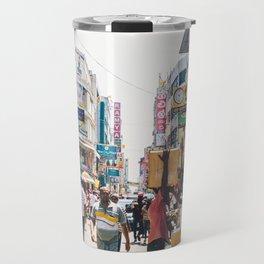 Streets of the Market, Colombo, Sri Lanka Travel Mug