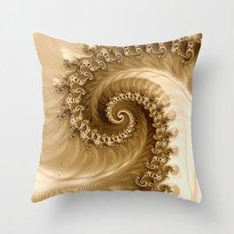Sound of Seashell Sepia  Throw Pillow