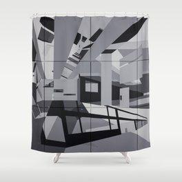 Cyan Twins Shower Curtain