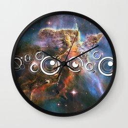 Doctor Who Timey-Wimey with the Carina Nebula Wall Clock