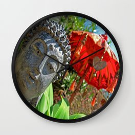 The garden of tranquility Wall Clock