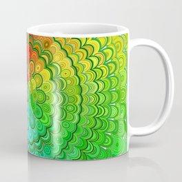 Rainbow Flower Mandala Coffee Mug