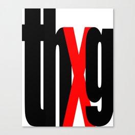 thUg_blk Canvas Print