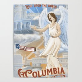 Columbia - City on the Hill Poster