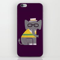 preppy iPhone & iPod Skins featuring Rodney the preppy elephant by Picomodi