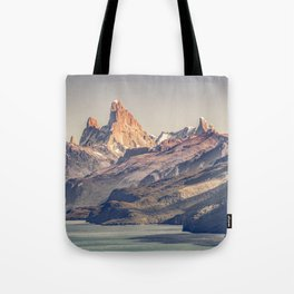 Fitz Roy and Poincenot Andes Mountains - Patagonia - Argentina Tote Bag