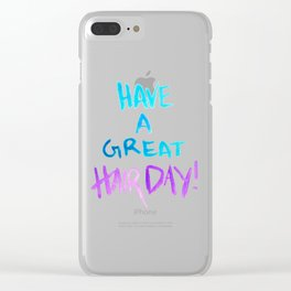 Have a great hairday! (Blue&Purple) Clear iPhone Case