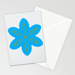 Periwinkles on White Stationery Cards