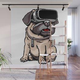 VR Pug Wall Mural