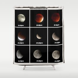 Supermoon & Eclipse -  September 27, 2015 Shower Curtain