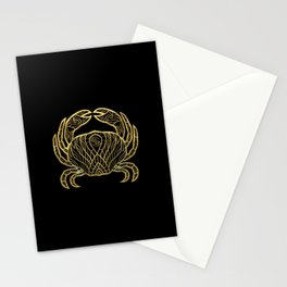 Cancer Gold Stationery Cards