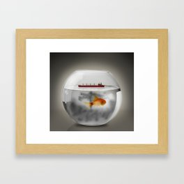 Petroliera / Tanker Framed Art Print