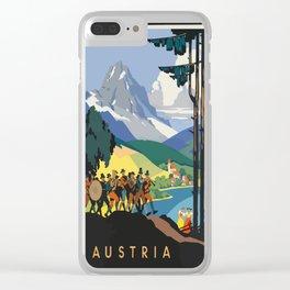 Vintage Poster Austria Clear iPhone Case