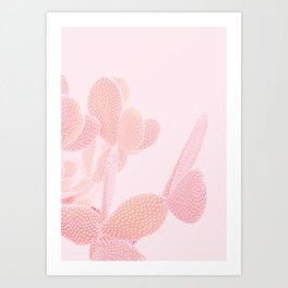 Opuntia Blush Art Print