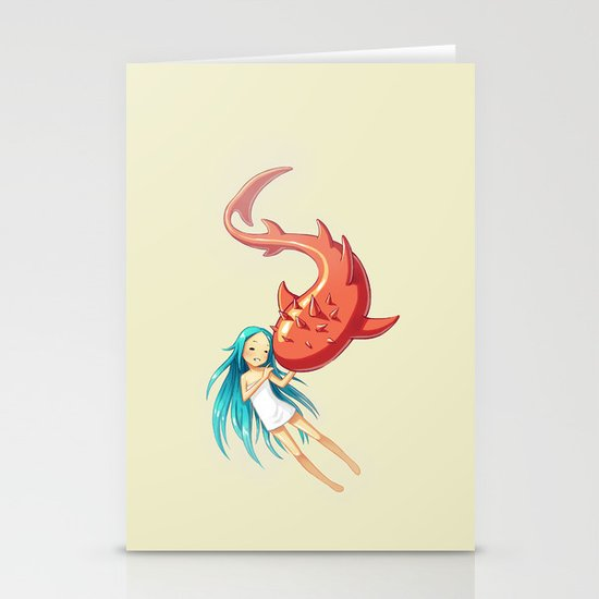 Red Whale Stationery Cards