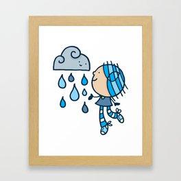 Rain Cloud Girl Framed Art Print