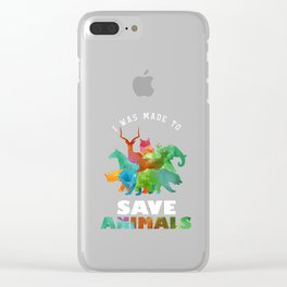 Rescue Pets Made To Save Animal Rights Supporter  Clear iPhone Case
