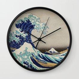 The Great Wave off Kanagawa vintage     from original painting by Katsushika Hokusai Wall Clock