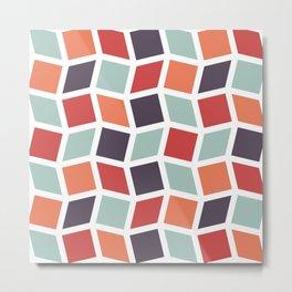Squares and Diamonds 3 Metal Print