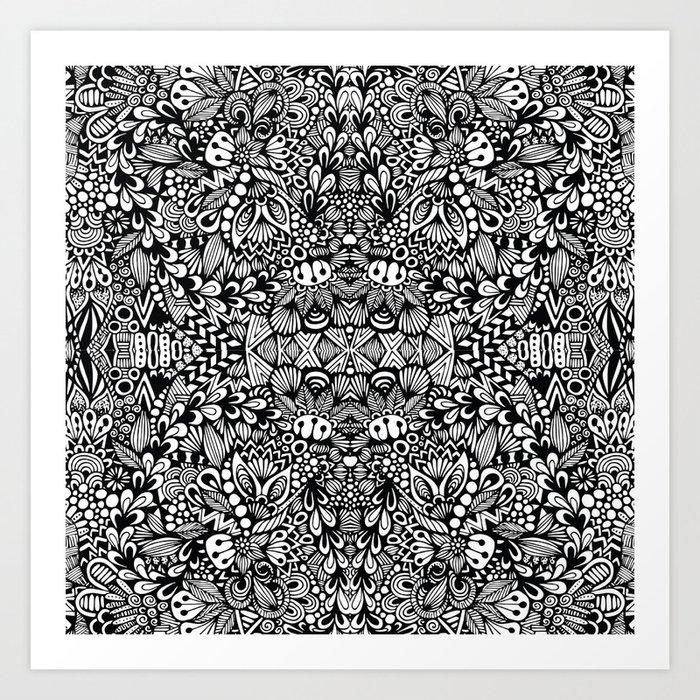 Zentangle  Kunstdrucke