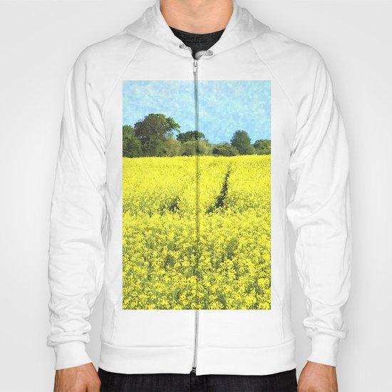 Rape Seed Field watercolour Hoody