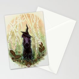 Black Magic Borzoi Stationery Cards