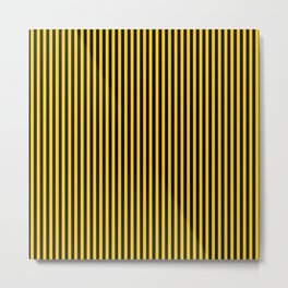 Striped black and yellow background Metal Print