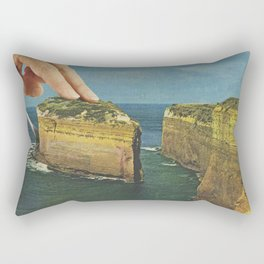Serving up cake by the seaside Rectangular Pillow