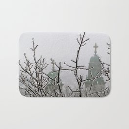 Ice and Fog in Portland, Maine (2) Bath Mat