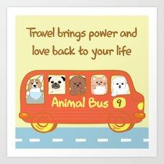 Animal bus no.9 Art Print