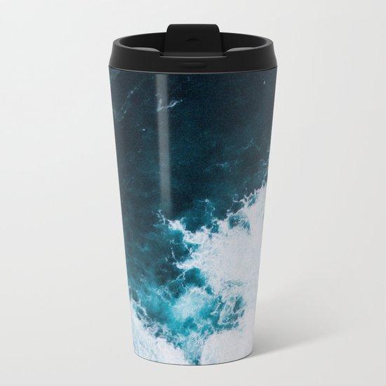 Wild ocean waves II Metal Travel Mug