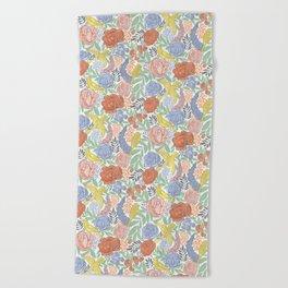 Bird Floral Beach Towel
