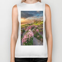 Scottish Castle ruin at Sunset Biker Tank