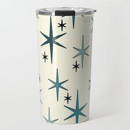 Mid Century Modern Star Sky Turquoise Travel Mug