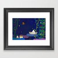 Attic cat Framed Art Print