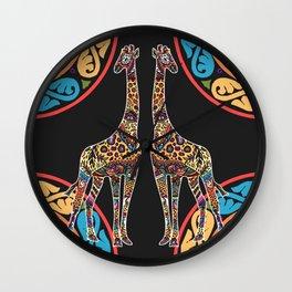 Giraffes of Cura Wall Clock